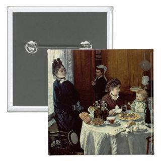 Das Frühstück, 1868 (Öl auf Leinwand) Quadratischer Button 5,1 Cm