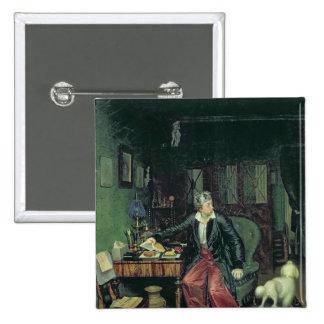 Das Frühstück des Aristokraten, 1849-50 Quadratischer Button 5,1 Cm