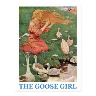 Das Gans-Mädchen Postkarte