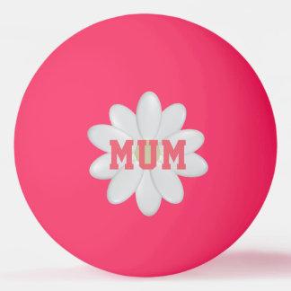 Das Gänseblümchen-Glühen der Mutter im dunklen Tischtennis Ball