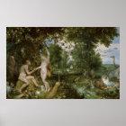 Das Garten Eden mit dem Fall des Mannes, c.1615 Poster