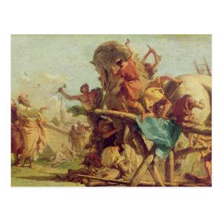 Das Gebäude des Trojan Horse, c.1760 Postkarte