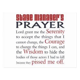 Das Gebet des Bühne-Managers Postkarten