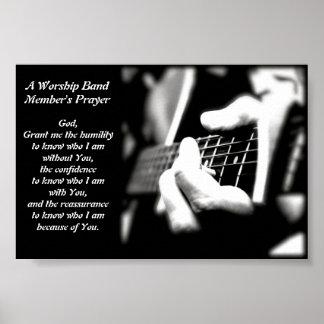 Das Gebet eines Anbetungs-Band-Mitglieds Poster