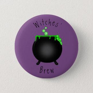 Das Gebräu-großer Kessel der Hexen Runder Button 5,1 Cm
