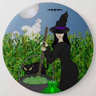 Das Gebräu-Halloween-Knopf der Hexe Runder Button 15,3 Cm
