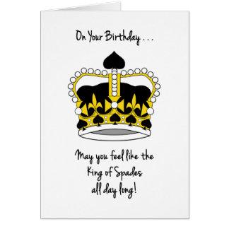 Das Geburtstag-Gefühl des Bridge-Spielers mögen Grußkarte