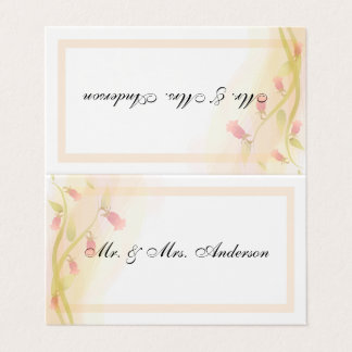 Folded Seating Cards - Pale pink matching set