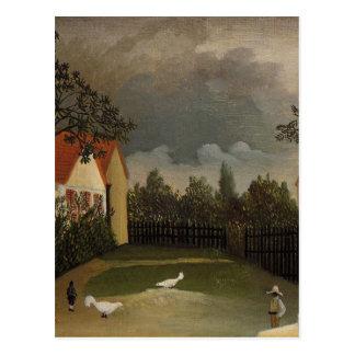 Das Geflügel-Yard durch Henri Rousseau Postkarte