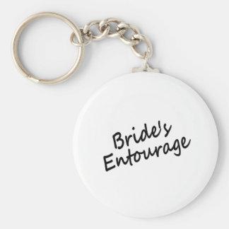 Das Gefolge der Braut Standard Runder Schlüsselanhänger