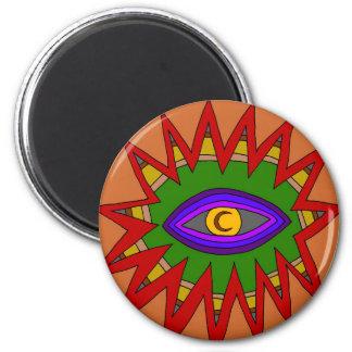 Das geistige Atom Runder Magnet 5,7 Cm