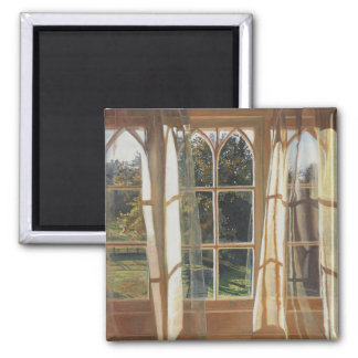 Das gelbe Fenster 2013 Quadratischer Magnet