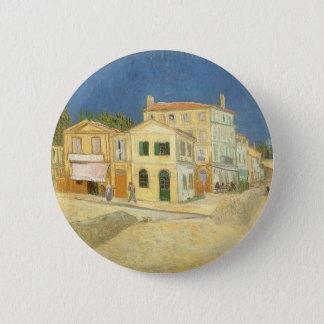 Das gelbe Haus durch Vincent van Gogh Runder Button 5,7 Cm