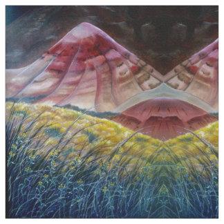 Das gemalte Hügel-Gewebe 3 Stoff