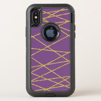 Das geometrische Gold, können Sie Hintergrundfarbe OtterBox Defender iPhone X Hülle