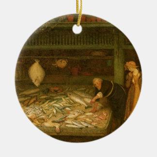 Das Geschäft eines Fischhändlers durch Frederick Keramik Ornament