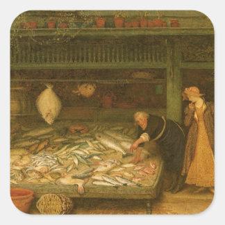Das Geschäft eines Fischhändlers durch Frederick Quadratischer Aufkleber