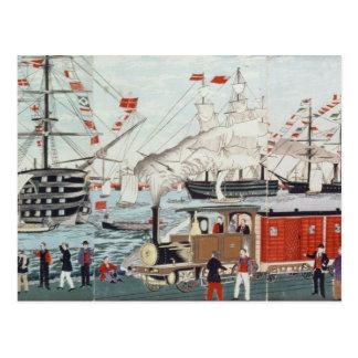 Das Geschenk des Flottenadmiral-Perrys einer Postkarte