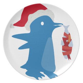 Das Geschenk des Pinguins Flacher Teller