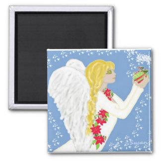 Das Geschenk des Weihnachtsengels Quadratischer Magnet