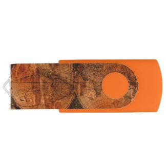 Das Geschenk Schmutz gealterter Welts-Karte USB Stick