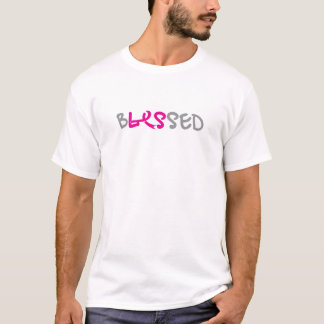 das gesegnete front&back der Männer/Schwarzen T-Shirt