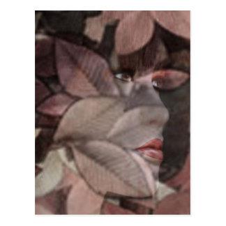Das Gesicht des Herbstes Postkarte