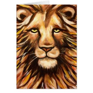 Das Gesicht des Löwes Karte