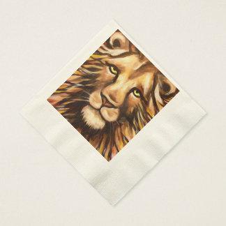 Das Gesicht des Löwes Papierservietten