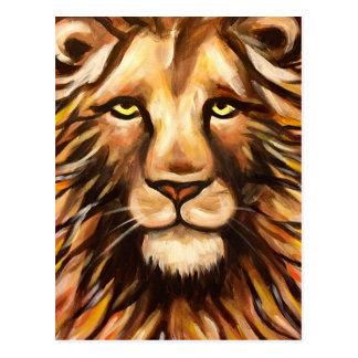Das Gesicht des Löwes Postkarte