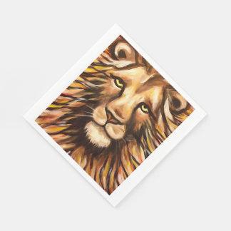 Das Gesicht des Löwes Servietten
