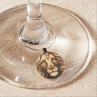 Das Gesicht des Löwes Weinglas Anhänger