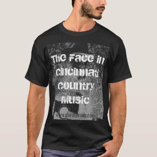 Das Gesicht im Cincinnati-Countrymusik-T - Shirt