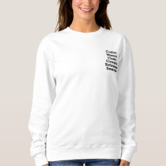 Das gestickte Sweatshirt der kundenspezifischen