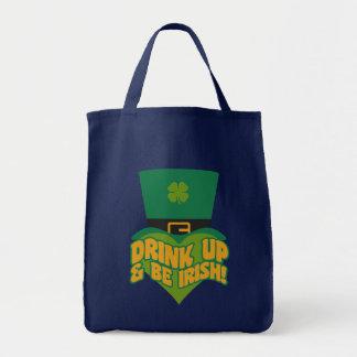 """""""Das Getränk, das hoch ist u. ist irisch!"""" Taschen"""