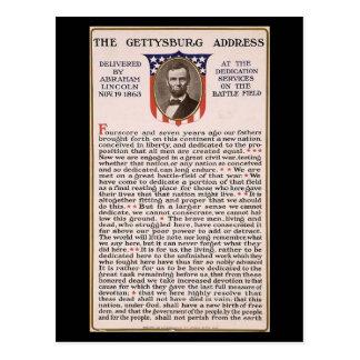 Das gettysburg-Adresseobama-Einweihungs-Thema Postkarte