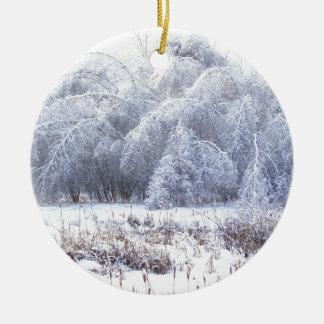 Das Gewicht des Eises Keramik Ornament