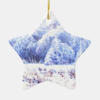Das Gewicht des Eises-lumi Keramik Stern-Ornament