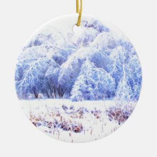 Das Gewicht des Eises-lumi Rundes Keramik Ornament
