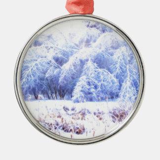 Das Gewicht des Eises-lumi Rundes Silberfarbenes Ornament