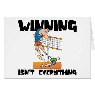 Das Gewinnen ist nicht alles Volleyball-Geschenk Karte