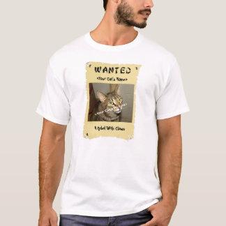 Das gewollte Plakat des Katzen-Liebhabers T-Shirt