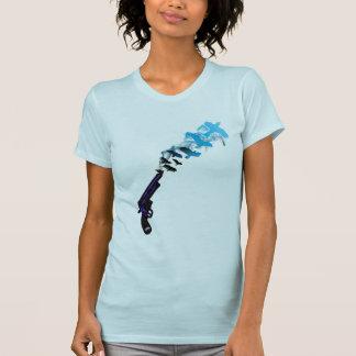Das Gezwitscher-Gezwitscher KNALL des Mädchens T-Shirt