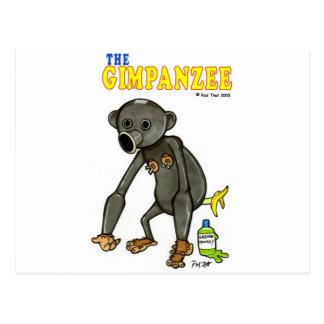 Das Gimpanzee Postkarte