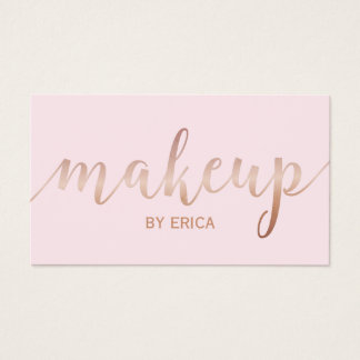 Das Girly Make-upkünstler-Rosen-Goldskript erröten Visitenkarte