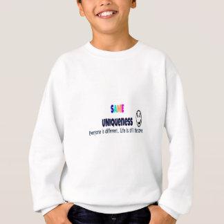 Das gleiche Einzigartigkeits-Kleid Sweatshirt