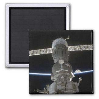 Das Glied der Erde schneidet ein Soyuz Quadratischer Magnet