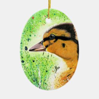 Das glückliche Entlein Keramik Ornament
