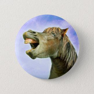 Das glückliche Pferd Runder Button 5,1 Cm