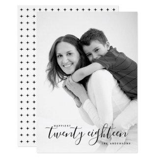 Das glücklichste Foto zwanzig achtzehn schwarze Karte